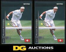 2003 (2) Netpro Glossy Roger Federer Rookie (#G11)  Rare /5000
