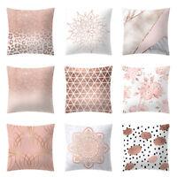 Rose Gold Pink Cushion Cover Square Pillowcase Home Decor Sofa Cusion Back Pure