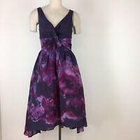 Lela Rose Target Nieman Marcus women's dress size 6 purple watercolor new