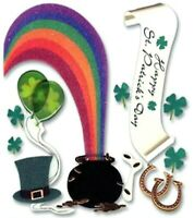 END OF THE RAINBOW St Patrick Day  Jolees Boutique Scrapbook Dimensional Sticker