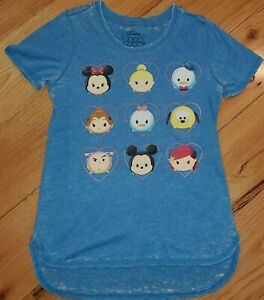 Disney t Shirt Tee Tsum Tsum Girls Ruffle Sleeve Top Size 7//8 10//12 New Characte