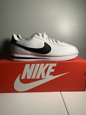 Nike Cortez Basic Leather Men's Casual Shoes - White/Black, Only worn once