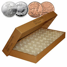 25 DIRECT FIT AIRTIGHT 39MM FOR 1 OZ SILVER ROUNDS COIN HOLDERS CAPSULE
