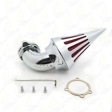 Motorcycle Chrome Spike Air Cleaner Intake Filter For Harley S&S Carburetor