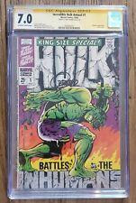 Incredible Hulk Annual 1 CGC SS 7.0 Signed Jim Steranko