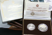 INVESTMENT SAN MARINO 500 1000 LIRE 1987 UNIVERSIADE ZAGREB SILVER PROOF BOX COA