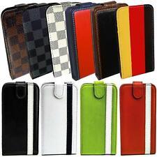 Handy Tasche iPhone Samsung Galaxy Sony Schutz Hülle Flip Cover Case Klapp Etui