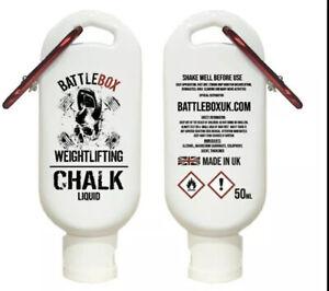 Battlebox Weightlifting® 50ML Liquid Chalk Red Carabiner Gymnastic WOD Gym Gear