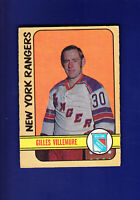 Gilles Villemure 1972-73 O-PEE-CHEE OPC Hockey #132 (EX) New York Rangers