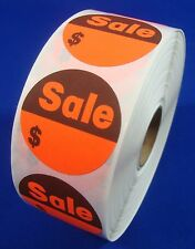"""1000 Self-Adhesive Sales $ Labels 1 3/8"""" Stickers / Tags Retail Store Supplies"""
