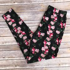 Pink, Green, Black Floral Women's Leggings PS Plus Size TC 12-20 Soft as LLR