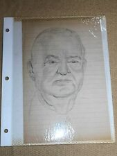 2 Hand Drawn Sketches - 2 Portraits -1 Is James Hilton - Oma Ruth Foster