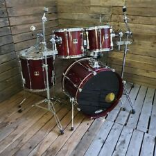 More details for drum kit yamaha stage custom, red used! rkyam020921