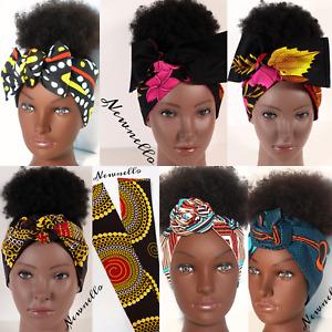 Hair Tie/head wrap/workout head band African Ankara Hair Accessories Scarves UK