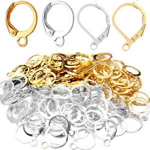 100Pcs Earring Hooks 925 Sterling Silver For Jewelry DIY Making Earrings Wires