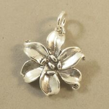 .925 Sterling Silver LILY Charm NEW Pendant Flower Purity Garden Lilium 925 GA96