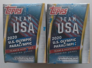 2020 TOPPS Team USA Olympic and Paralympic Blaster Box LOT of 2x SEALED