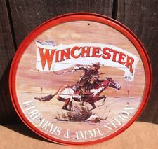 WINCHESTER FIREARMS AND AMMO Tin Metal Sign Vintage Wall Garage Classic Bar