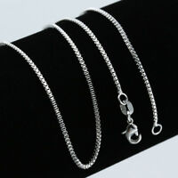 Wholesale 925 Sterling Silver Italy Curb Snake Chain Charms Necklace 16-30inch