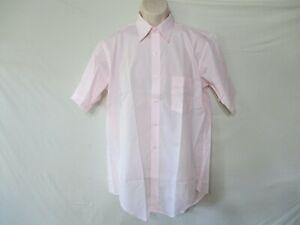 NWOTS ARROW BRADSTREET MEN'S SHORT SLEEVE DRESS SHIRT PINK SIZE 16 USA MADE