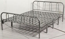 METAL HEAVY DUTY CONTRACT FOLDING BED OR GUEST BED FRAME - 4ft 6in DOUBLE