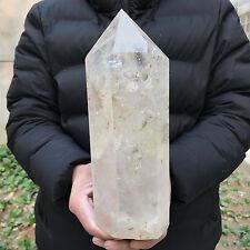 5.47LB natural clear ghost quartz crystal obelisk wand healing P1659