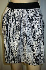 AYARISA Black Nude Tulip Zip Up Lined Summer Party Mini Skirt Size 8