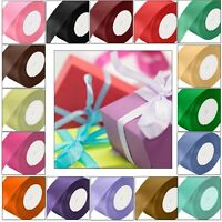 25 Meters Full Roll Double Sided Satin Ribbon for Party Wedding Cake Decoration