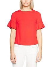 New Look Women's Flutter Sleeve T-Shirt  in red uk sz 12 new