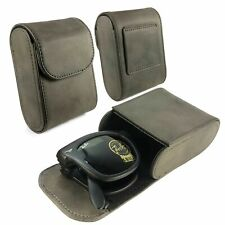 TUFF LUV Leather Folding Sunglasses Case with Belt Loop for Ray-Ban - Brown
