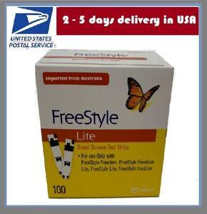 Abbott FreeStyle LITE 50/100 Lite Blood Glucose Test Strips Exp 2-2023