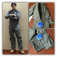 """1/6th Scale Green Jumpsuit Pilot Suit Coverall Model For 12"""" Male Action Figure"""
