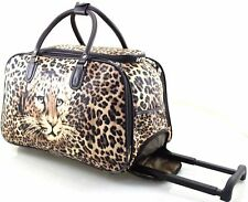 New Designer Tiger Print Cabin Trolley Hand Luggage Holdall Suitcase Bag Case