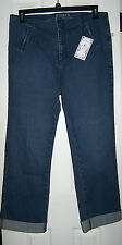 NOT YOUR DAUGHTERS JEANS DENIM ROLLED CUFF JEANS SZ 16 COTTON BLEND ANKLE  NWT