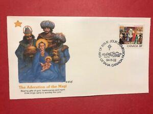 #1041 FDC 1984 Fleetwood Canada 37c M110 Christmas - Magi Wise Men Adoration
