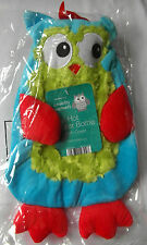 Large Owl Hot Water Bottle- 4 Great Colours -soft Fluffy Cover 2 Random Colour