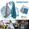 2PACK ICE Cold Instant Cooling Towel Running Jogging Gym Chilly Pad Sport Yoga