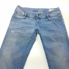 Diesel MATIC Womens Jeans W28 L34 Light Blue Regular Stretch Straight Low Rise