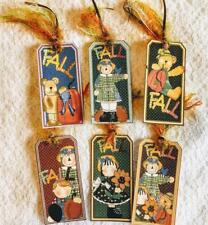 Set of 6 Hang Tags~Fall Country~Autumn~Gift Tags~Scrapbooking~Card Making~#273R