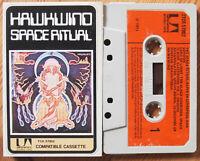HAWKWIND - SPACE RITUAL (UA TCK57002) 1973 UK CASSETTE TAPE VG+ COND! SPACE ROCK