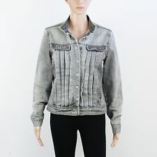 French Connection Womens Size M FCUK Grey Denim Jacket