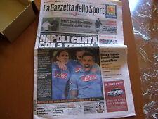 GAZZETTA DELLO SPORT22/02/2012 NAPOLI CHELSEA CAVANI LAVEZZI 22 FEBBRAIO 2012