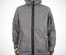 Burton Groucho Snowboard Jacket (L) True Black Wrinkled Gingham