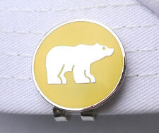 Yellow-Chrome Bear Golf Ball Marker & Magnetic Hat Clip