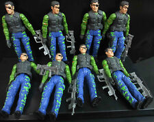 LOT! 8 UNIMAX TOYS BRAVO TEAM SECRET SOLDIERS FORCE Military ACTION FIGURE #SF3