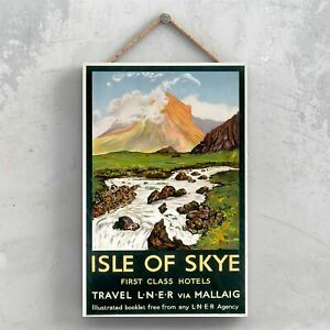 ISLE OF SKYE HOTELS ORIGINAL NATIONAL RAILWAY POSTER ON A PLAQUE VINTAGE DECOR