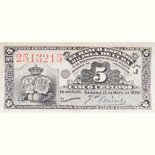 Banco Español de Cuba. 5 centavos. La Habana 15 Mayo 1896. sin circular - pareja