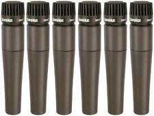 6 Pack - Shure SM57 SM-57 Dunamic Microphones Mics