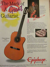 Chet Atkins, Epiphone Guitars, Full Page Promotional Ad