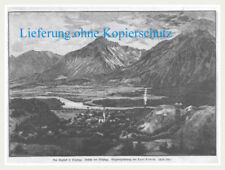 Brixlegg-Gesamtansicht. Original Holzstich nach Curt Liebich erschienen 1892